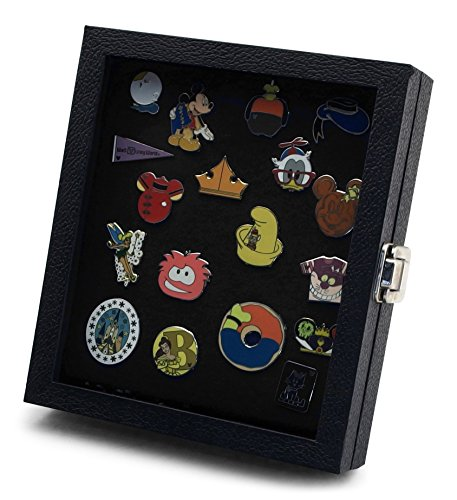 Pin Collector's Compact Display Case by Hobbymaster -- for Disney, Hard Rock, Olympic, Political Campaign & other collectible pins, holds 20-50 pins (Black) (Black Pin Display Case compare prices)