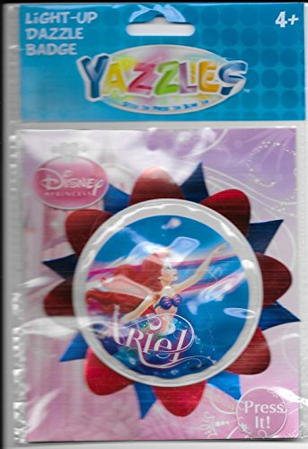 Yazzles Disney Princess Ariel Light-up Dazzle Badge