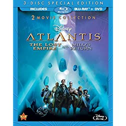 Atlantis: The Lost Empire / Atlantis: Milo's Return: Two-Movie Collection (Three Disc Blu-ray / DVD Combo)