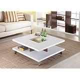 Furniture of America Lendon Square Coffee Table, White
