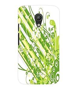Fuson 3D Printed Coloured Flower Pattern Designer Back Case Cover for Motorola Moto G2 - D658