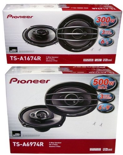 """Pioneer Ts-A1674R 6.5"""" + Ts-A6974R 6X9 Speakers Package"""
