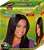African Pride Olive Miracle Deep Conditioning No-Lye Relaxer - Super Kit 4-Count by African Pride