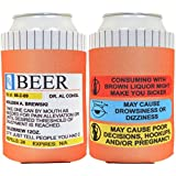 Funny Beer Coolie Prescription Gag Gift Rx Pill Bottle Gift Coolie 2 Pack Can Drink Cooler Coolie Multi