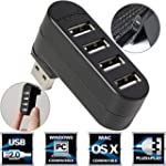 Sabrent 4-Port USB 2.0 Rotatable Hub...