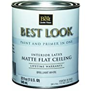 - HW36W0840-14 Best Look Latex Flat Brilliant White Paint And Primer In One Ceiling Paint