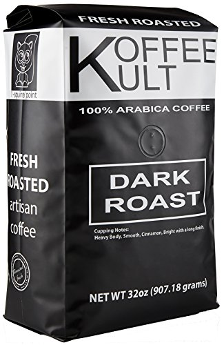 Koffee Kult Dark Roast Coffee Beans (2 Pounds Whole Bean) Highest Quality Delicious Organically Sourced Fair Trade - Whole Bean Coffee - Fresh Coffee Beans (Dark Coffee compare prices)