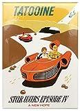 Disney Parks Magnet - Star Wars Tatooine x Autopia Retro Poster