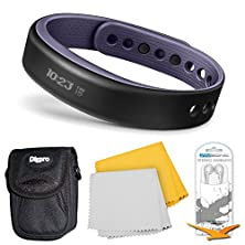 buy Garmin Vivosmart Bluetooth Fitness Band Activity Tracker - Large - Purple Bundle - Includes Activity Tracker, Noise Isolation Headphones, Carrying Case And 1 Piece Micro Fiber Cloth