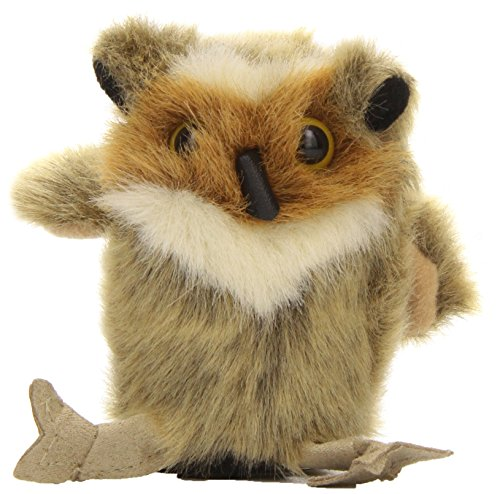Folkmanis Mini Great Horned Owl Finger Puppet - 1