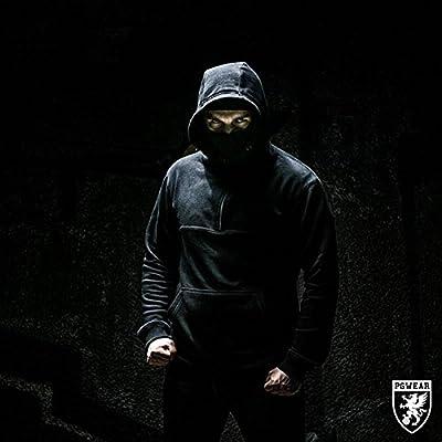 PG Wear Ninja Hoodie Front Line inkl. Sturmhaube in schwarz von S-3XL