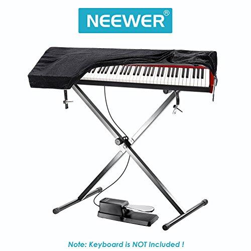 Neewer-Kit-de-accesorios-de-teclado-Universal-estilo-Piano-Pedal-single-braced-X-Style-Soporte-de-teclado-61-llave-teclados-Protector-contra-el-polvo-negro