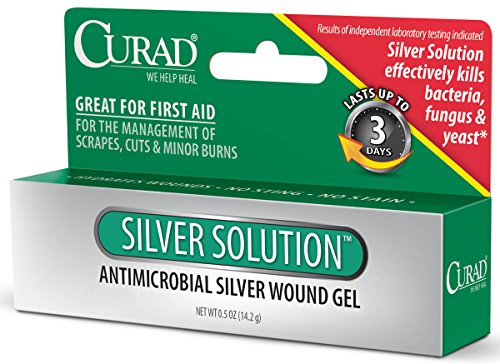 Curad Silver Solution Antimicrobial Gel,  .5 oz, (Pack of 2) (Formula 3 Antifungal Professional compare prices)