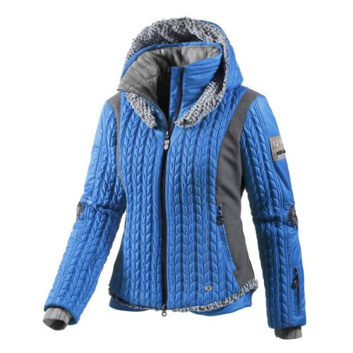 SPORTALM Mount Gec Damen Skijacke mit Pelz azur blue, Damen Größe:42