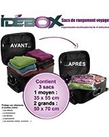 Idebox GLO6199 Set 3 Sacs de Rangement Voyage