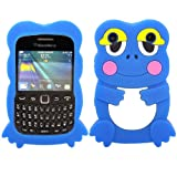 Frog Silicone Case Cover Skin For Blackberry Curve 9220 9320 / Blue