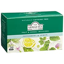 Ahmad Tea Peppermint and Lemon Infusion, 20-Count Tea Bags (Pack of 6)