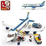 Sluban Building Block Plane City Airport Cargo Terminal B0366 463pcs 7dolls Compatible
