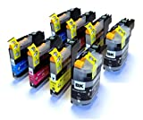 2 Full Sets (8) Compatible Ink Cartridges for Brother MFC J4510DW