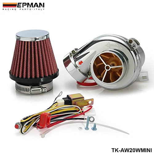 EPMAN Turbo Kits Mini Electric Turbo Supercharger Kit Air Filter Intake For All Car Motorcycle (20W) (Supercharger Electric Intake compare prices)