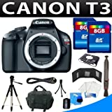 Canon EOS Rebel T3 Digital Slr Camera (Body) + 16gb Camera Accessory Kit