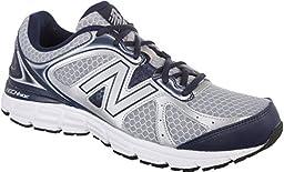 New Balance Men\'s M560V6 Running Shoe, Silver/Navy, 10 D US