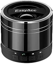 EasyAcc® Mini Enceinte Portable Haut-parleur Bluetooth Rechargeable pour Smartphones ,Tablettes ,ordinateurs portables, Ultrabook ,avec microphone , fonction FM et Lecteur de la Carte Mico SD- Noir titanium