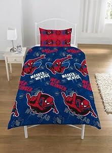 Parure linge de lit Housse de couette + Taie d oreiller Spiderman Menace 1 Personne Enfant Garcon