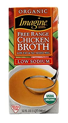 Imagine Organic Free Range Chicken Broth, Low Sodium, 32 Ounce by Imagine