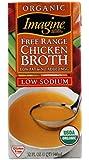 Imagine Organic Free Range Chicken Broth, Low Sodium, 32 Ounce