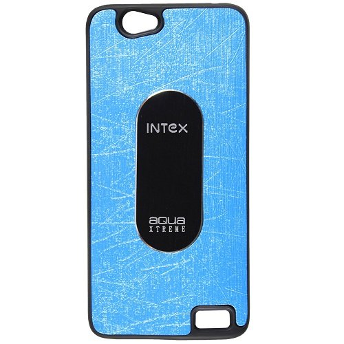 Casotec Metal Back TPU Back Case Cover for Intex Aqua Xtreme - Sky Blue  available at amazon for Rs.119