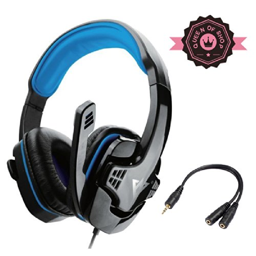 Me333 Black+Blue Professional Usb Stereo Pc Games Headsets Headphones