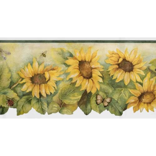 Scalloped Sunflower Wallpaper Border Home Improvement