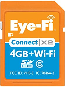 Eye-Fi 4 GB Connect X2 SDHC Class 6 Wireless Flash Memory Card (EYE-FI-4CN-FF)