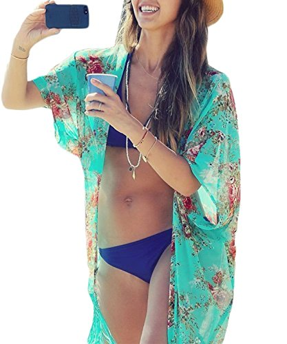 Yonala Summer Womens Beach Wear Cover up Swimwear Beachwear Bikini,One Size,Green (Swim Cover Ups Women compare prices)