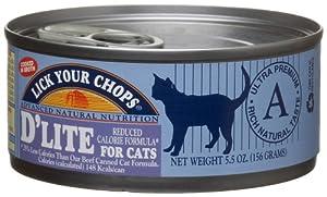 Lick Your Chops D'lite Low Calorie Formula for Cats, 5.5-Ounce Cans