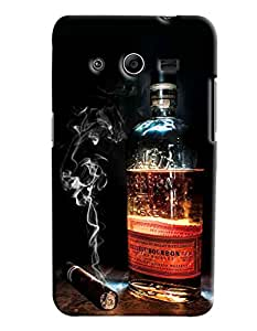 Clarks Whisky Inspired Hard Plastic Printed Back Cover/Case For Samsung Galaxy Core 2