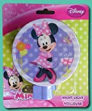 NEW!! Minnie Mouse Disney Lamp Night Light, Purple and Pink Polka Dot