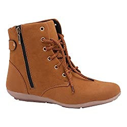 Motion women's tan zip and lace style boots