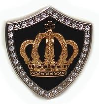 BeltsandStuds Goth Punk Rhinestone Gold Crown Metal Buckle Silver