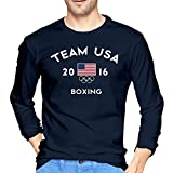 VARY Men's Team USA 2016 Olympics Boxing Long Sleeve T-shirt Navy