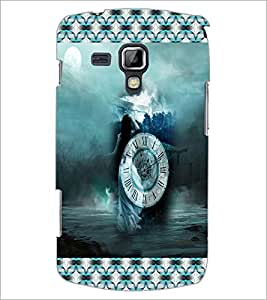 PrintDhaba Time D-3037 Back Case Cover for SAMSUNG GALAXY S DUOS S7562 (Multi-Coloured)