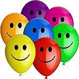10x Smiley Bunt - Heliumballons - Rundballons - Luftballons ++ High Quality - Premiumline Luftballons ++ VERSANDKOSTENFREI vom Luftballonprofi & Heliumballon - Experten aus Deutschland galleryy ++