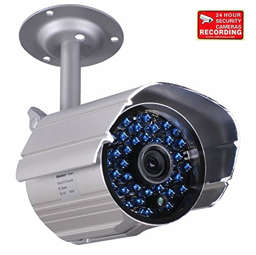VideoSecu Day Night Vision Weatherproof 520TVL Home Bullet Security Camera 36 IR Infrared LEDs with IR Cut Filter Switch for CCTV DVR Surveillance System WO1