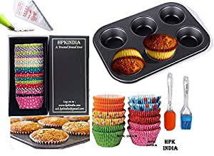 buy 209 quantity bakeware baking tools accessories set of 100 baking cups 100 icing bags. Black Bedroom Furniture Sets. Home Design Ideas