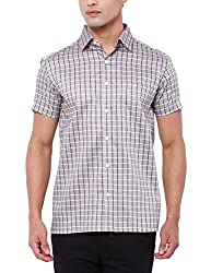 Deezeno Regular Fit Checkered Half Sleeve Shirt