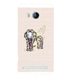PrintVisa Animal Elephant Art 3D Hard Polycarbonate Designer Back Case Cover for VivoXshot