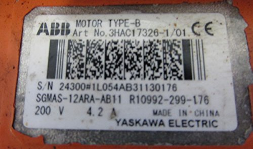 Yaskawa Electric Sgmas-12Ara-Ab11 W/ Abb Motor Type B 3Hac17326-1/01