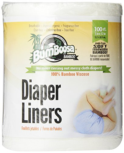 Bum Boosa Bamboo Flushable Diaper Liners, 100 Sheets