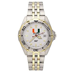 NSNSW22243Q-Stainless Steel University of Miami Hurricanes Watch by NCAA Officially Licensed